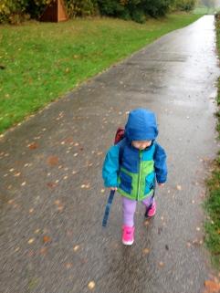 På promenad från öppna förskolan i Skivarp.